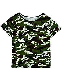 Blusa, Oyedens Las mujeres de la manera ponen en cortocircuito la camiseta ocasional del camuflaje