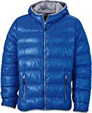James & Nicholson Herren Daunenjacke Men's Down Jacket XL,Blau/Silber