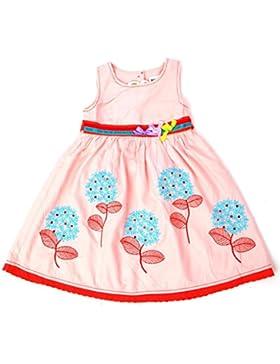 Nova – Vestito estivo per bambina con soffioni ricamati – 100% cotone