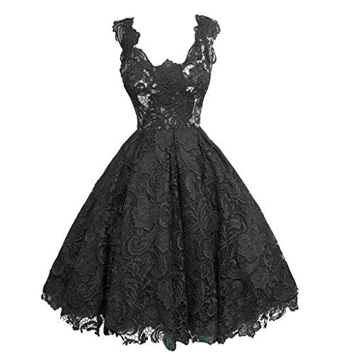 buenos ninos Women Floral Lace V Neck Bridesmaid Evening Party Dress