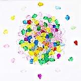 sumdirect 25x18mm mehrfarbigen pirat edelsteine acryl - diamanten für vase füllstoff, aquarium, tabelle streuung, party und hochzeit decor-approx. 200pcs (25x18mm, mehrfarbig)