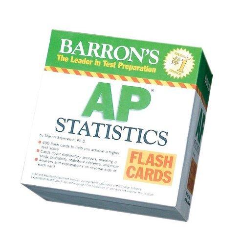Barron's AP Statistics Flash Cards (Barron's: the Leader in Test Preparation) by Martin Sternstein Ph.D. (2008-02-01)