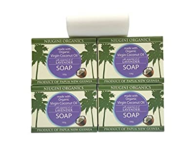 4 x The UK's only Pure Organic Virgin Coconut Oil Soap Bar For Sensitive Skin, 100g by Tropic Frond Oils Limited