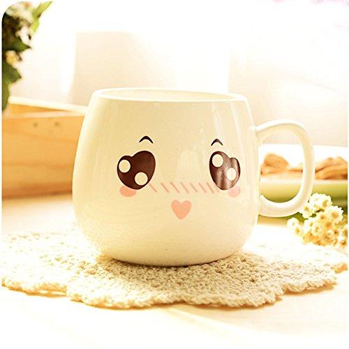 Cozyswan Taza Mug,Tazas(cerámica) Expresión imágenes de la historieta tazas desayuno (SHY)