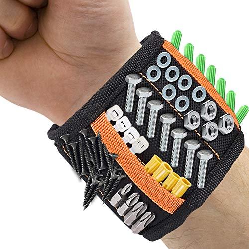 Magnetische Armbänder,DIAOCARE Magnetarmband mit 2 kleinen Taschen,15