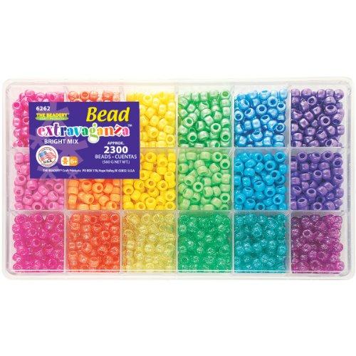 Beadery verschiedenen Extravaganza Set mit Box ca. oz Brights (Perlen Craft Ornament)
