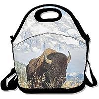 Preisvergleich für Lunch Tote Bison Lunch-Boxen Lunchpaket Handtasche Lebensmittel Aufbewahrung passend für Schule Reisen Arbeit Outdoor