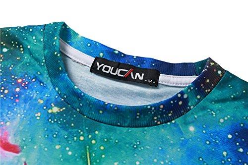 Honour Fashion Sternhimmel 3D Printed Sport Pullover und Hose T-Shirt