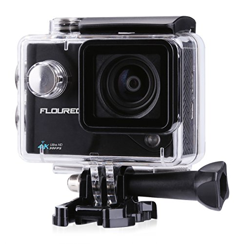FLOUREON Action Cam (4k 30fps 16MP FHD 1080P Wi-Fi Waterproof Sport Camera, 2.0 Inch LCD Display, 170 Ultra Wide-Angle Lens, DV Camcorder, Portable Package Including Full Accessories Kits)