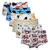 Kidear Serie Für Kinder Weiche Baumwollene Unterwäsche Sortierte Boxershorts Kleiner Jungen (Packung mit 6 Stücken) (Stil4, 4-5 Jahre)