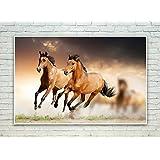 Posterskart Brown Horse Running Wall Art Poster