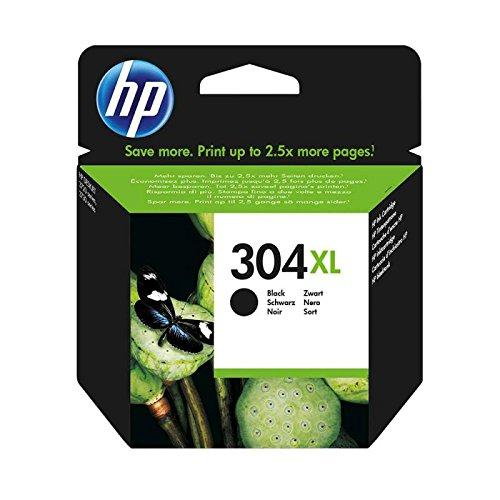 Cartuccia HP 304XL Nero Originale per HP DeskJet 3720 3730 3732 N9K08AE 304XLBK, Capacità: 300 Pagini