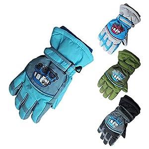 Kinder Winter Ski Handschuhe Warm Wasserdicht rutschfest Skifahren Schnee Handschuh Full Finger Schutzhands für Outdoor Snowboard Radfahren