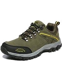 HGDR Scarpe Da Montagna Da Uomo Scarpe Da Trekking Di Alta Qualità Sneakers Da Arrampicata Impermeabile Antiscivolo,Grey-39
