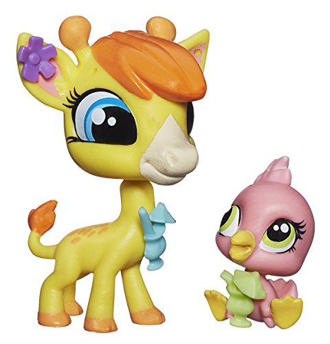 Littlest Pet Shop Pierre de Long & Siesta Perez - Giraffe & Pink Flamingo by Littlest Pet Shop