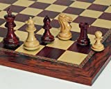 Weible 01565 - Schachfiguren Grandmaster, Palisander und Buchsbaum, 89mm