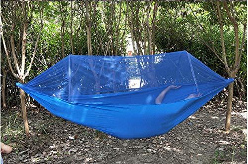 Aufhängeset,Travel,TragbareUltra-dichte automatische Moskitonetz Doppel Fallschirm Tuch Schatten Camping Bett Hängematte
