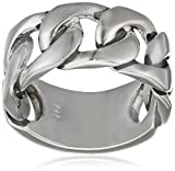 caï men Herren Ring Royal Punk 925 Silber rhodiniert schwarz coloriert 58 (18.5) - C4185R/90/00/58