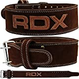 RDX 4' Powerlifting Gewichthebergürtel Leder | Fitness-Gürtel Geeignet Für Bodybuilding, Gewichtheben & Krafttraining | Rückenunterstützung Trainingsgürtel Gym Weightlifting Belt (MEHRWEG)