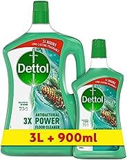 ديتول - منظف جميع الأغراض برائحة الصنوبر الصحي 3 لتر + 900 مل