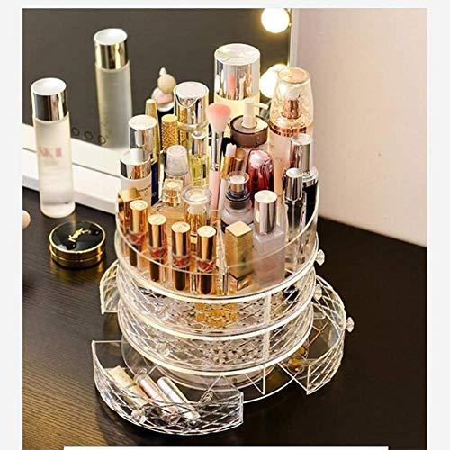 ZMLSXU 360 Grad-drehender justierbarer Make-uporganisator-Kosmetik-Lippenstift-Parfümspeicherbehälter-Kasten (freier Raum)