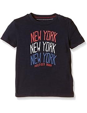 Tommy Hilfiger New York CN Tee S/S, Camiseta para Niñas
