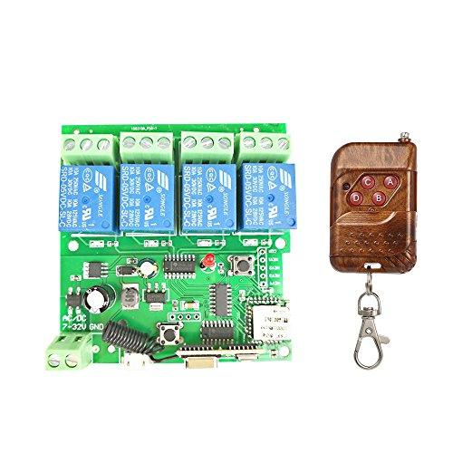 Festnight Sonoff Smart Wireless Fernbedienung Schalter, APP Fernbedienung DC 5V 12V 32V 4CH Wifi Switch Universal Modul Mit RF 433MHz Fernbedienung (Rf Universal-fernbedienung Mit)