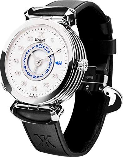 Korloff MT3ZW - Orologio analogico al quarzo da uomo, reversibile, colore:...