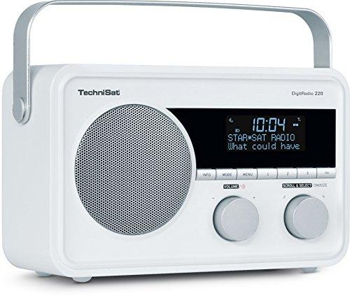 TechniSat DIGITRADIO 220 - Portables, empfangsstarkes DAB+/UKW Digital Radio - Mit Wecker, Sleeptimer und Aux-Anschluss für Kopfhörer - Indoor & Outdoor zu nutzen