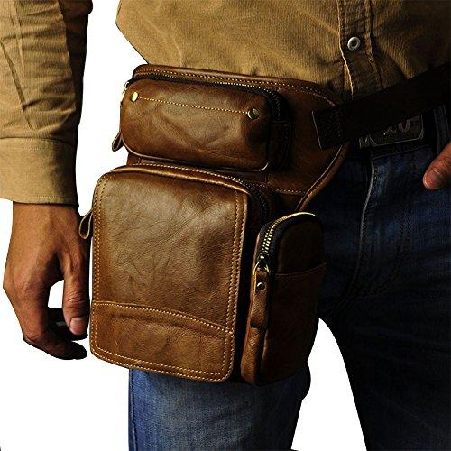 Genda 2Archer Borsa Fotografica, Tasca per Cellulare, Cintura in Vita Giallo