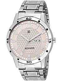 ROMADO RMDD12-WHT NEW DAY DATE IMPERIAL WHITE DIAL ANALOG Watch- For Boys
