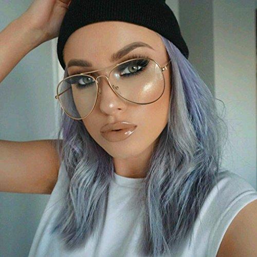 BEAUTY IS LIFE BeautyLife Klassische Brille Metallgestell Brillenfassung Vintage Pilot Brille Dekobrillen