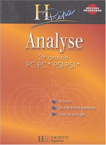 Analyse 2e année PC/PSI