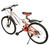 Cosmic Voyager 21 Speed Gear Speed Bicycle, 24-inch (White/Red)