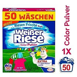 Weißer Riese Color Pulver, Colorwaschmittel, Waschladungen