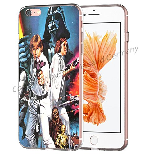 Blitz® STAR WARS Schutz Hülle Transparent TPU Cartoon Comic Case iPhone M14 iPhone 4 M8