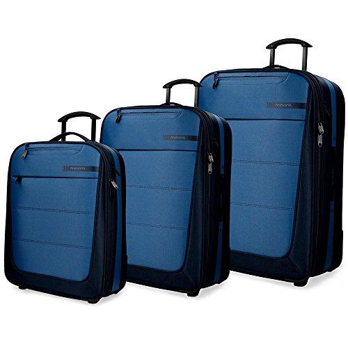 Movom Detroit - Juego de Maletas, 75 cm, 193 Litros, Azul