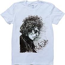 Bob Dylan de hombre blanco, Custom Made camiseta blanco blanco Medium