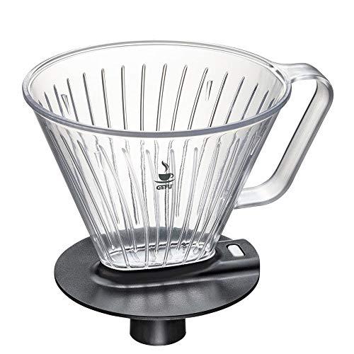Kaffeefilteraufsatz Größe 4, Stutzenfilteraufsatz Brühaufsatz mit Tropfstopp, bis...