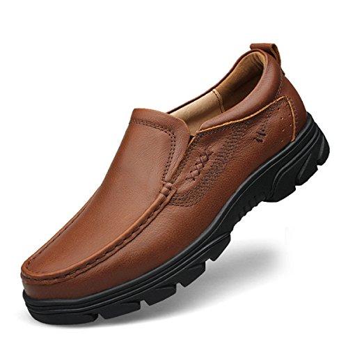 Chaussures Hommes Hiver Souliers Pour Chaussures Secteur Chaussures Respirant Chaussures Respirant Quotidien Casual Chaussures En Cuir Confortable Polaire Brun