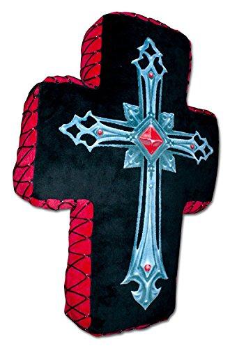Spiral Kissen Fallen Angel Kreuz Gothic Cushion Cross -