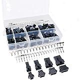 DollaTek 520Pcs 2.5mm Pitch 2 3 4 5 Pin JST SM Stecker & Buchse Steckergehäuse und Männlich/weiblich Pin Header Crimp Terminals Stecker Kit