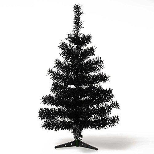HAB & GUT (XM012) Albero di Natale artificiale / abete colorato nero - Altezza: 60 cm