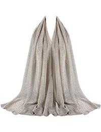 0bcfc92bc46 BaZhaHei Echarpe Femmes Hijab Longue Premium En Viscose de Première Qualité  avec Motif Froissé Bandeau Doux