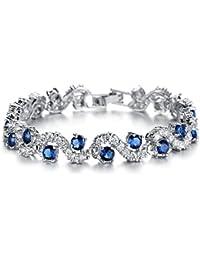 Lily Jewelry Pulsera de cristal de Swarovski para mujer, diseño elegante y clásico