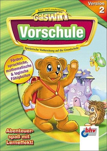 Galswin Vorschule Version 2, 1 CD-ROM Spielerische Vorbereitung auf die Grundschule. Für Windows 98/ME/XP. Fördert sprachliche, mathematische & logische Fähigkeiten