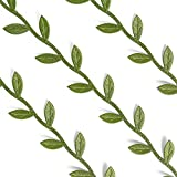 Satyam Kraft Satin Leaf Ribbon Lace: 2m pack