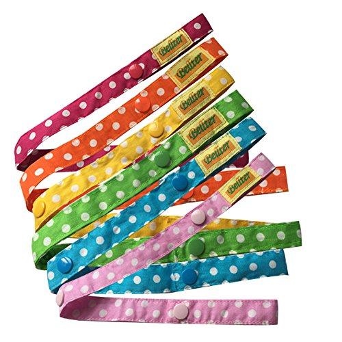 Baby Spielzeug Gurt, Baby Flaschen Halter Spielzeug Bügel Gurt 6Pcs, für Kinderwagen/Autositz/Hochstuhl (6 Colors)