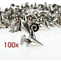 Gleader 100 piezas/set 9.5mm Remaches Plateado Punk DIY con Tornillo