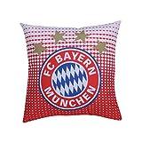 FC Bayern München Kissen Logo FCB + Gratis Aufkleber, Pillow, almohada, oreiller